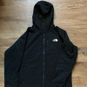 NORTH FACE Black Timber Hoodie Fleece Jacket NWT